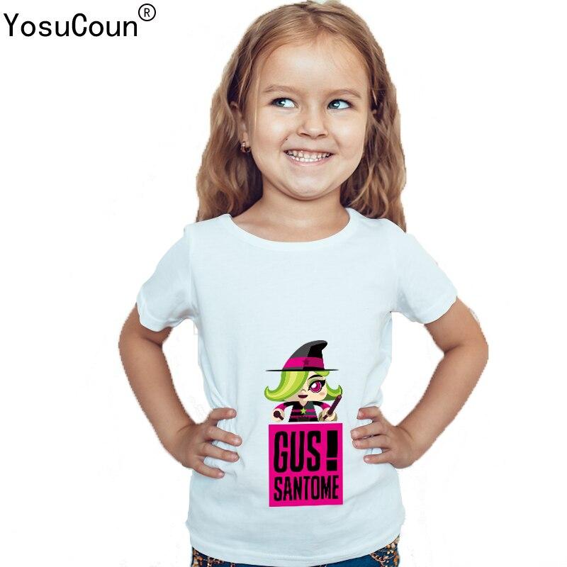 Girls T-shirt For Kids Boy Shirts For Kids Girl GUS SANTOME Pattern  Printing Short 51c8581e8364