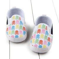 Toddler Infant Baby Unisex Anti-Slip Cartoon Skull Soft Sole Prewalker Shoes