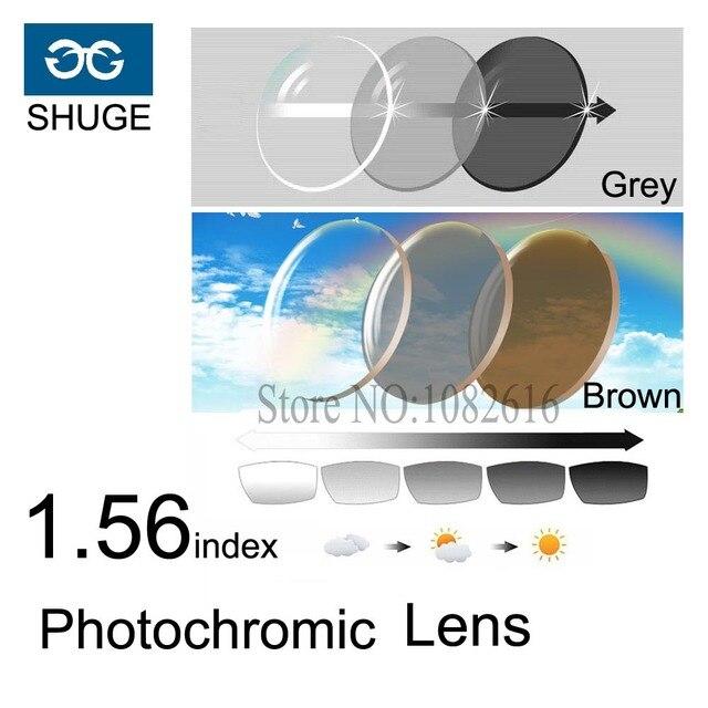 1.56 Фотохромные Линзы 1.553 индекс Асферические Линзы Оптические Очки Близорукость Дальнозоркость Чтение Очки Смола Объектива