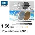 1.56 Lentes Fotocromáticas 1.553 index Asférica Lentes Ópticas Óculos de Miopia Presbiopia Óculos de Leitura Lentes de Resina