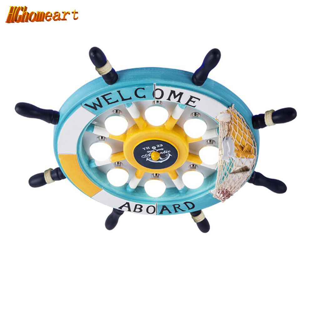 HGhomeart Kids110V-220V E27 Wood Led Lamp Rudder Kids Ceiling Lamps Kindergarten Children Room Led Ceiling Light Lamp