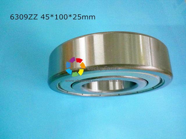 6309ZZ 1Piece bearing free shipping 6309 chrome steel deep groove bearing 6309ZZ 45*100*25mm