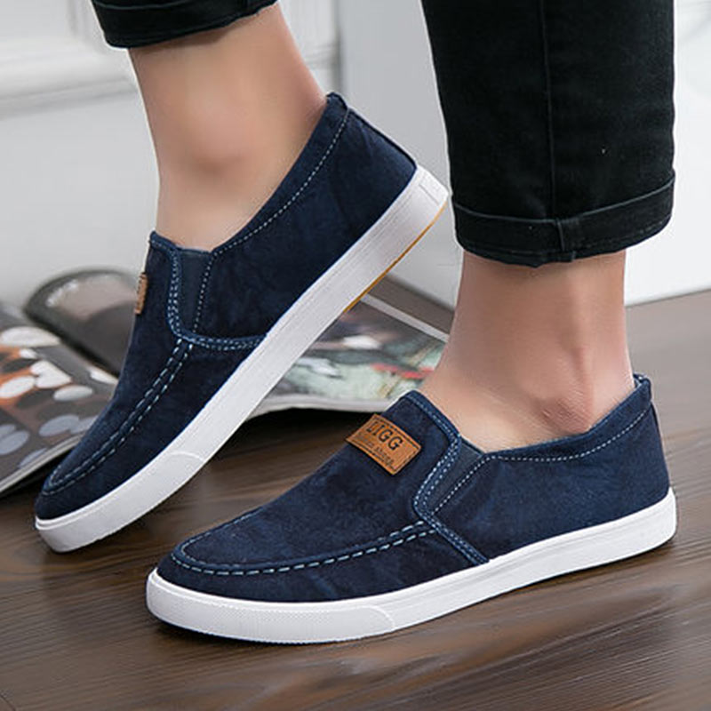 Summer Canvas <font><b>Shoes</b></font> Men Sneakers Casual Flats Slip On Loafers Moccasins Male <font><b>Shoes</b></font> Adult Denim Breathable Gray zapatos hombre