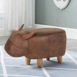 Детские животные табурет для ног, табурет для детей с креативным рисунком буйвола, деревянные фланелевые пеленальные туфли табурет для ног