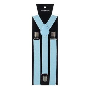 Hot Sale Elastic Leather Suspenders Men 3 Clips Vintage Mens Women Suspender For Trousers Wedding Suspension For Skirt 40 Color