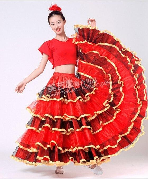 56c72ec04 2013 dance skirt /performance wear /dance consume /Chinese Folk Dance  Costume/ spanish bull dance skirt