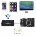 NFC Bluetooth Audio Receiver Wireless Audio Adapter 3.5mm RCA Stereo Output for Sound System