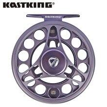 Kastking 2016 nueva katmai nuevo fly fishing reel large arbor derecho super ligero mango de aluminio carrete de la mosca de fundición a presión