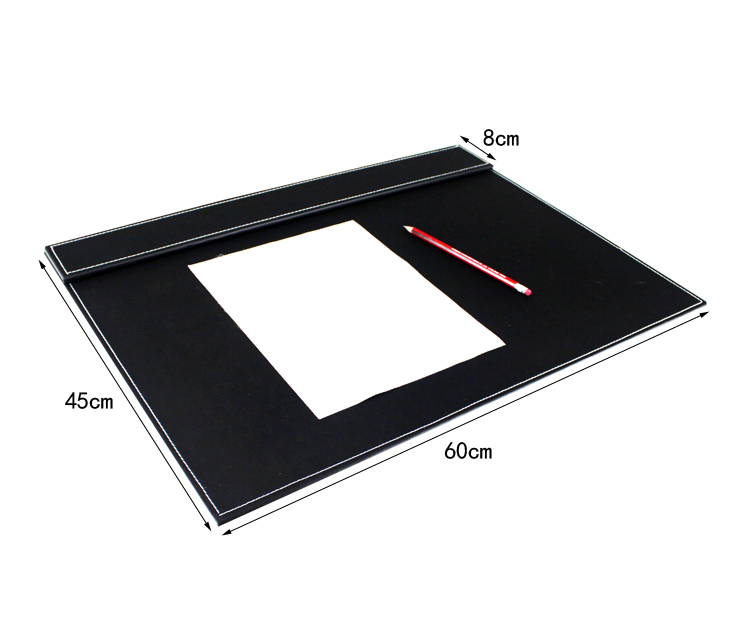 Useful Rectangle Wood Leather Office Desktop Writing Drawing Board Pad With Paper Clip Black 235a In Plaques Signs From Home Garden On Aliexpress