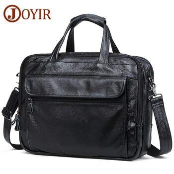 JOYIR Männer Aktentaschen Aus Echtem Leder Handtasche 15 Laptop Aktentasche Messenger Schulter Crossbody-tasche Männer Tasche Geschäfts Portfolio