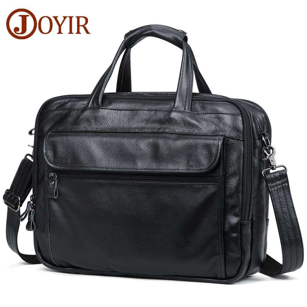 JOYIR Men Briefcases Genuine Leather Handbag 15