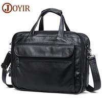 JOYIR Men Briefcases Genuine Leather Vintage Handbag 15Laptop Briefcase Messenger Shoulder Crossbody Bag Men's Bag Business Bag