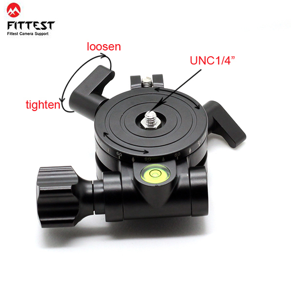 FITTEST JZ Leveler Base Measurement High Precision Level Regulator for Camera Horizontal 1/4 Screw Mount Panoramic Tripod Head