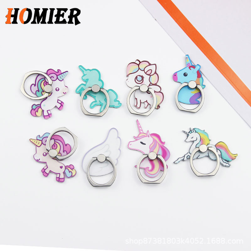 Universal Metal Finger Ring Mobile Cell Phone Cute Cartoon Phone Holder Stand For IPhone 6s 7 8 Plus X Bracket Holder