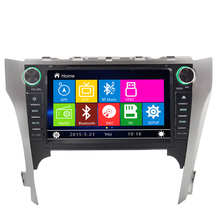 for Toyota 2012 New camry 2 din car dvd with Tv usb/sd bluetooth Digital touch screen car multimedia Steering Wheel Control FM