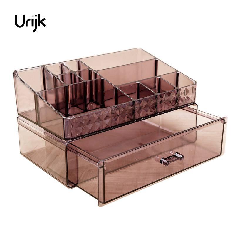 Urijk Acrylic Makeup Organizer for Cosmetics Drawer Storage Boxes Jewelry Storage Box Bathroom Desk Accessories Organizer