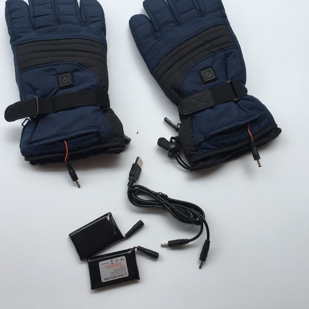 Motorcycle Sports Gloves heated electric Ski alloy wire wash rechargeable breatheable and wearable Gears battery heating gloves