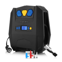 12V 150PSI Auto Air Compressor LED Display Car Air Tire Inflation Pump Portable 4 Units Inflatable