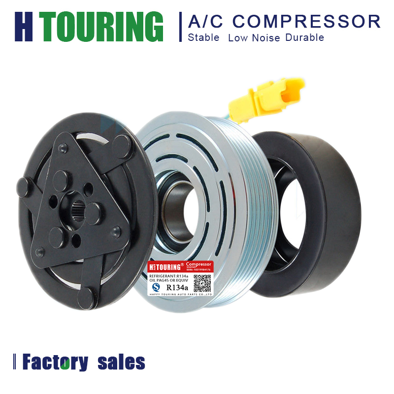 🛒 New A/C Compressor Clutch Kit Pulley Bearing Coil Plate
