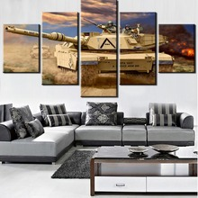 Modular Picture 5 Pieces War Thunder Painting Canvas Wall Art Home Decoration Living Room Wal Decor Framed