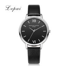 2017 New Lvpai Watches Women Top Quality Leather Bracelet Classic Quartz Wristwatches Ladies Black Dial Casual Dress Watch