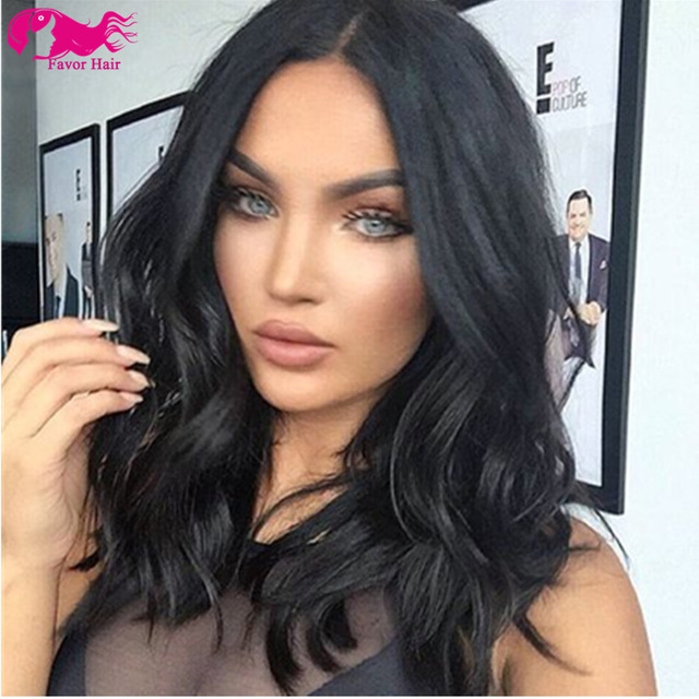 7a Bob Lace Front Wigs Brazilian Hair Long Human For Black Women Natural