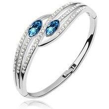 Австрийский Кристалл глаза браслет для женщин АААА+ стразы модные ювелирные изделия Прямая поставка качественные женские аксессуары