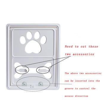 Controllable Lockable Plastic Pet Dog Cat Door for Screen Window Safety Flap Gates Pet Door Dog Fence Free Access Door for Home 3