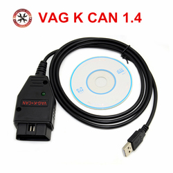 Professional Diagnostic VAG K CAN COMMANDER Full 1.4 vag k+can commander 1.4 OBD2 Diagnostic Cable for VAG Free Shipping