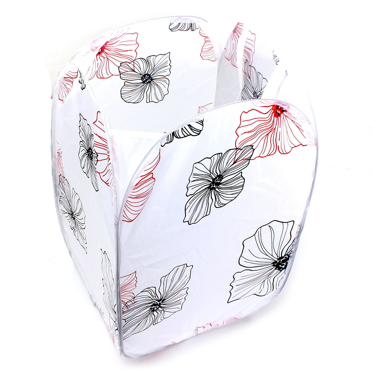 Large-Capacity Foldable Washing Clothes Basket Laundry Bag Bin Hamper Storage(flower)
