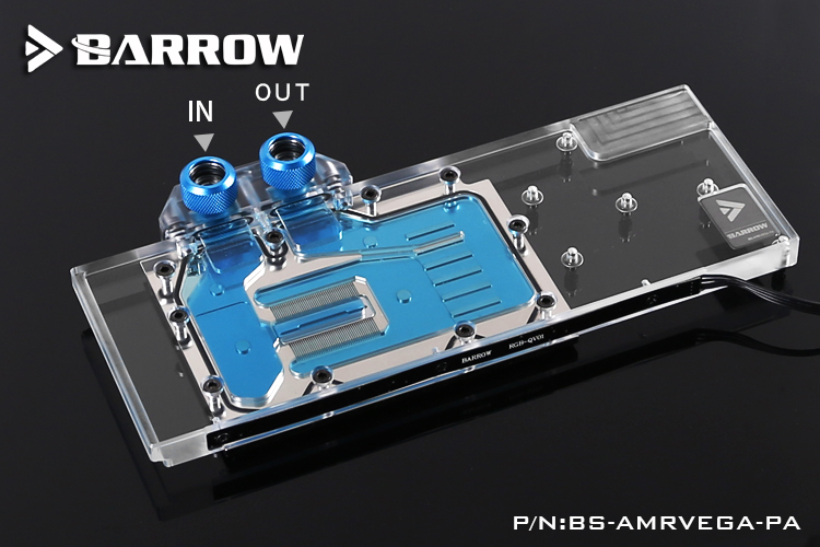 Barrow BS-AMRVEGA-PA GPU Water Cooling Block for AMD Radeon Vega FE Frontier spectral bs 58 высота 58 см silver