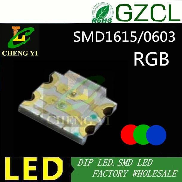 ce&rosh 4000pcs Rgb Multicolor 1615 Smd Led 0603 Tricolor Surface Mounted Led Diode Lights & Lighting
