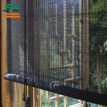 Popular bamboo blinds/bamboo roller blinds/ready made curtain/curtain fabric curtain window black bamboo curtain Haoyan