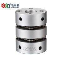 GLJ aluminum alloy double diaphragm top wire series Shaft Couplings D82 L98; D94 L98; D104 L102; D126 L110mm