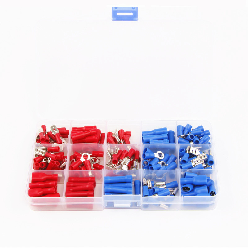 200Pcs Assorted Insulated Electrical Wire Terminals Crimp Connector Set Red Blue 90 ndamukong suh