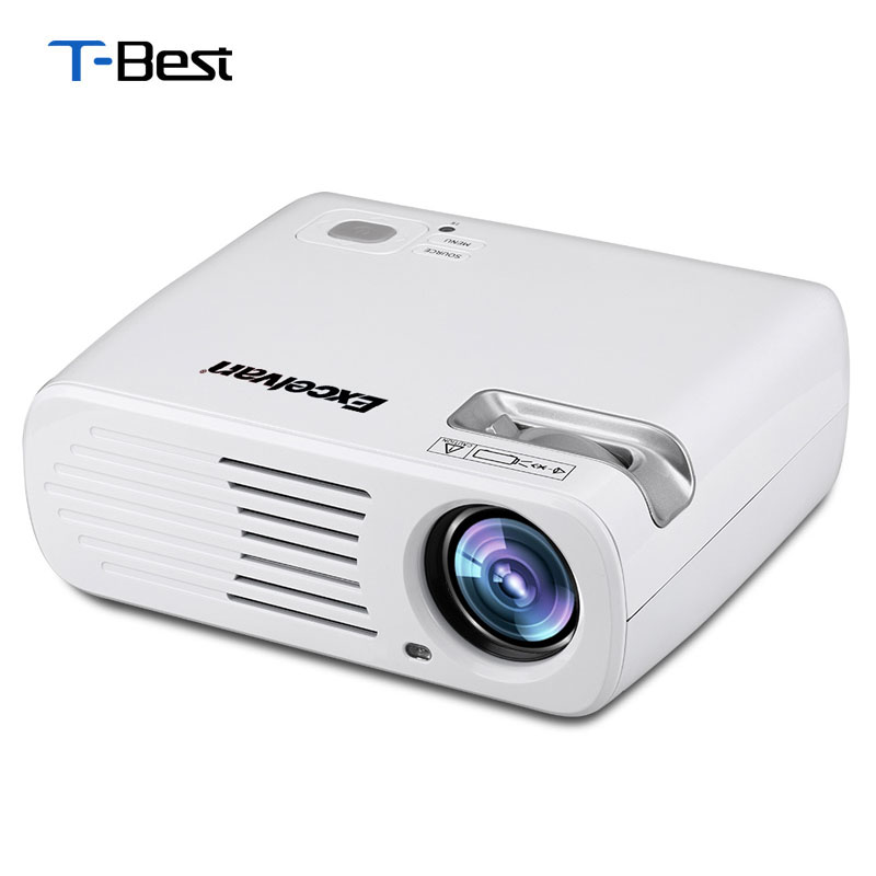 Buy excelvan ehd11 2600 lumens led projector multimedia for Usb projector reviews