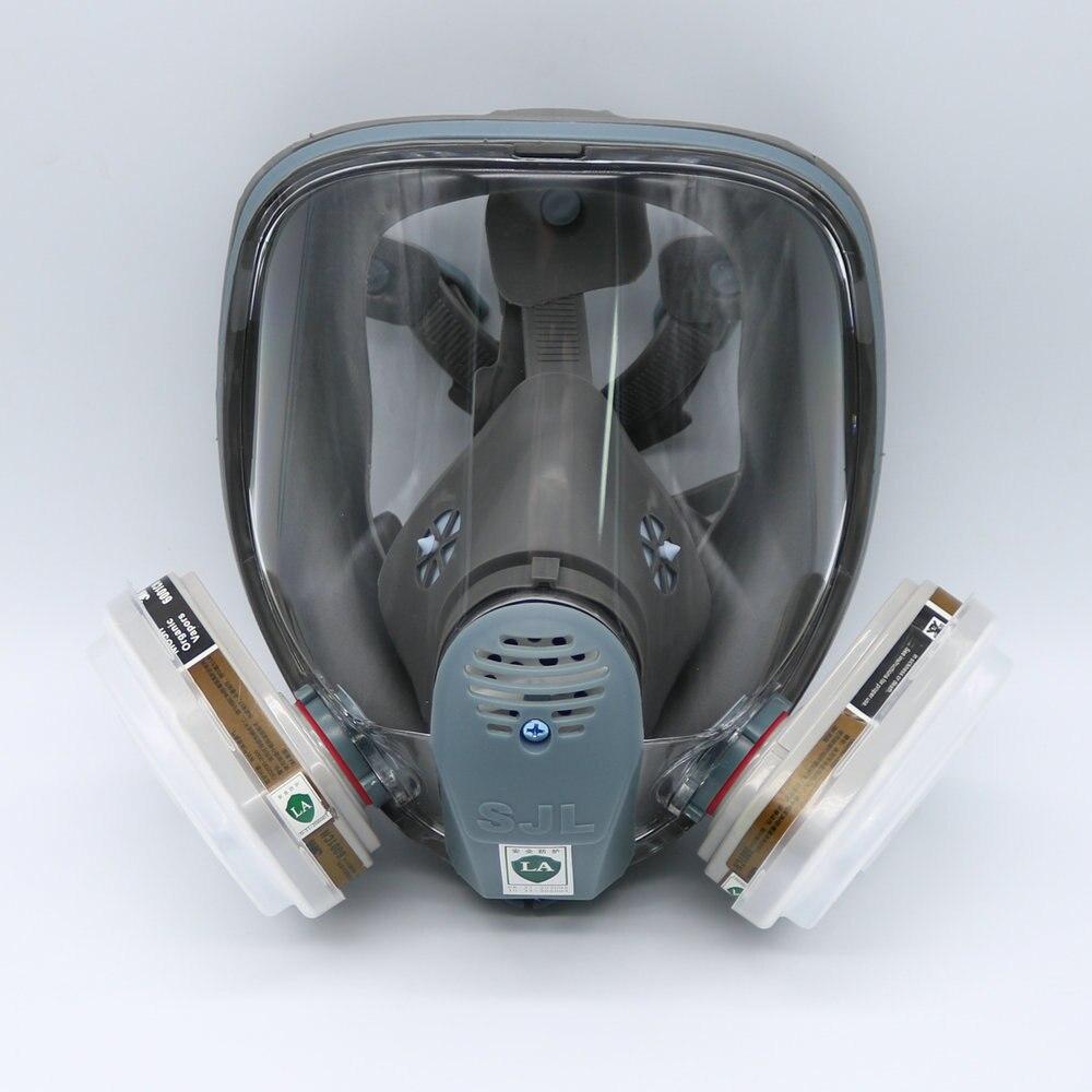 SJL plein visage 6800 7 pièce masque à gaz Pesticides masque masque respirateur peinture pulvérisation 6001 cartouche filtrante médecine chimique