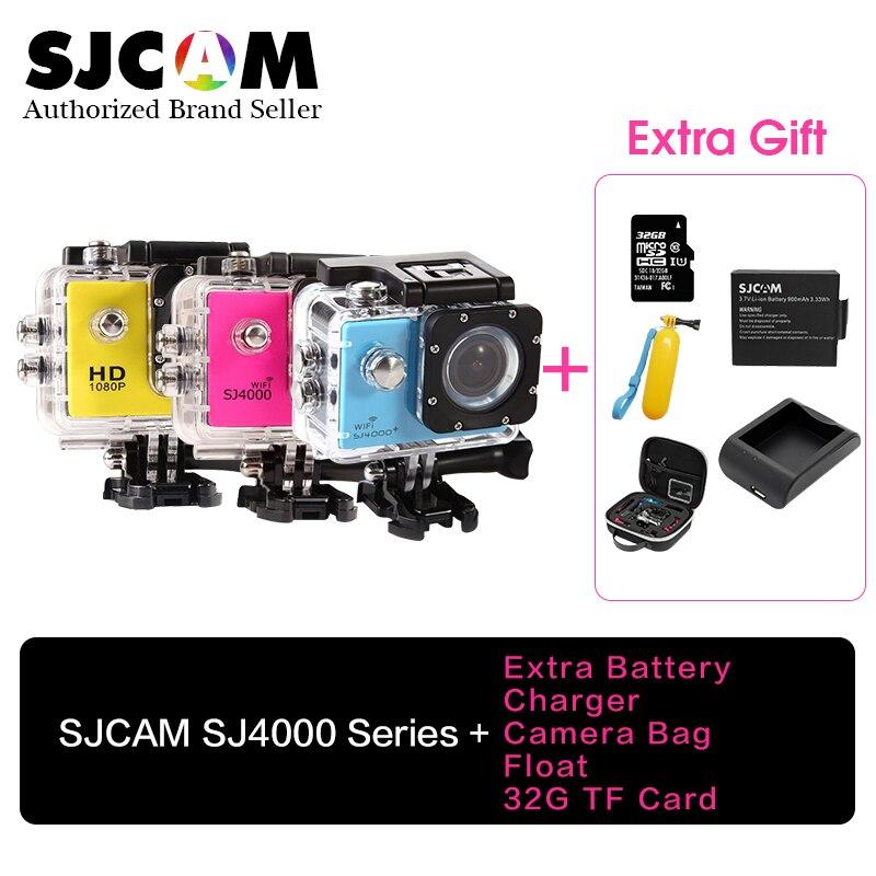 Original SJCAM SJ4000 Series SJ4000/SJ4000WiFi 1080P FULL HD Sport Action Camera +32G TF card+Camrera bag+ Battery+Charger+Float original sjcam 4000 series sj4000