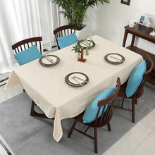 New cotton and linen household tablecloth dirty anti-skid simple fresh decorative dining room cloth