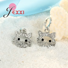 Cat Head Cubic Zirconia Jewelry Sets For Children