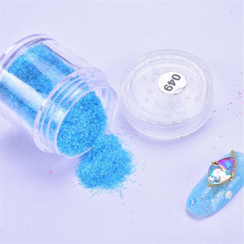 Sequins Nail Glitter Powder 10ml/bottle Super Shiny 3D Nail Art Glitter Powder Sequins Powder For Nail Art Glitter Decoration