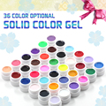 36pcs/set Colorful Solid Pure Color UV  Nail Gel Art Tips Manicure Decoration Fresh Good Quality Colour By Random