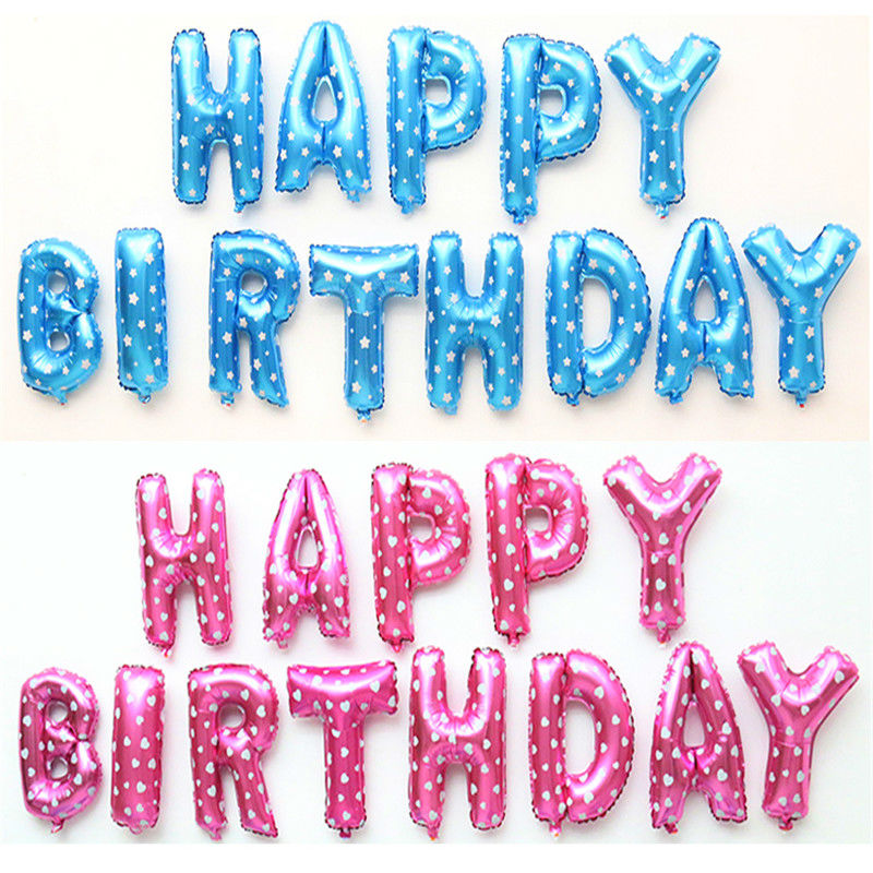happy birthday letters for him 13pcs 16 inch multicolor letter happy birthday foil 11553