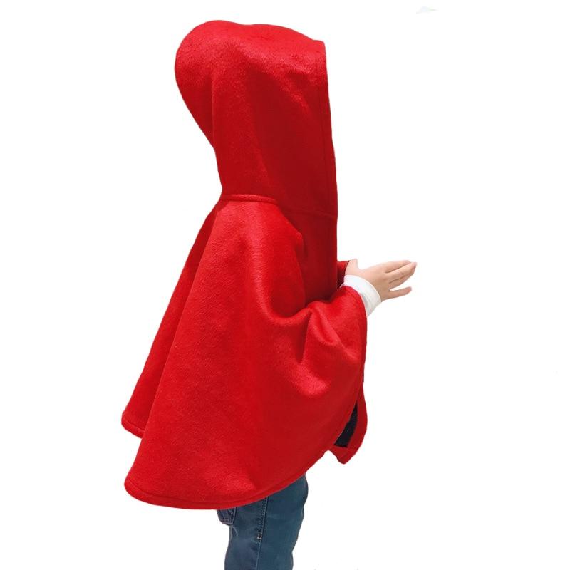 Brand Girls Wool Cloak Coat Wool Shawl Baby Clothing Children's Cloak High Quality 3y-8y