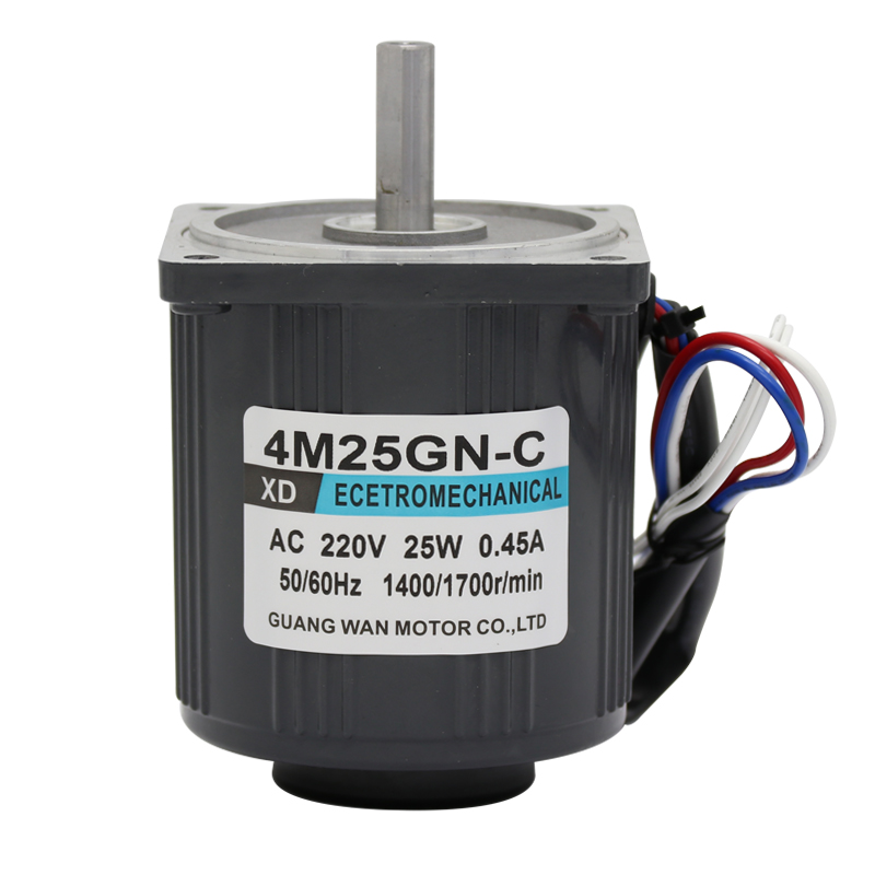 220V (AC motor + governor) optical axis high speed motor can rotate forward and reverse 25W miniature motor 1350rpm-2800rpm