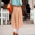 Primavera E Verão 3 Camadas de Malha Camisa Mulheres Plissadas Tutu de Tule saia vestido de Baile Estilo Coreano Big Balanço Midi Saias de Cintura Alta