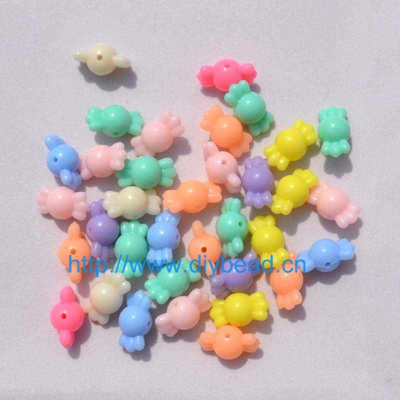 50 ชิ้น/ล็อตเด็ก DIY สร้อยข้อมือสีผสมลูกปัดอะคริลิคสร้อยคอกรม 16*9 มม.การ์ตูนน้ำตาลผลการค้นหาเครื่องประดับ