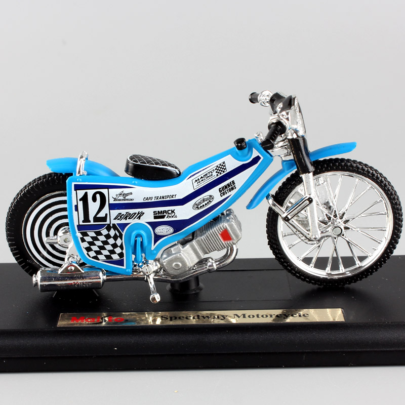 1 18 Scale Mini No 12 Speedway Motorcycle Model Track Maisto