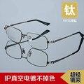 2016 hombres semi marco de anteojos ópticos de titanio puro cara grande Anti-radiación gafas gafas de equipo gafas de grau marcos TG8847