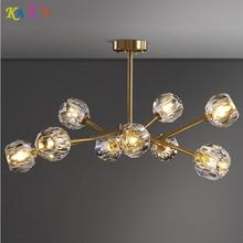 KATE Modern LED Copper chandelier lighting living room for Foyer Stair Restaurant light chandeliers